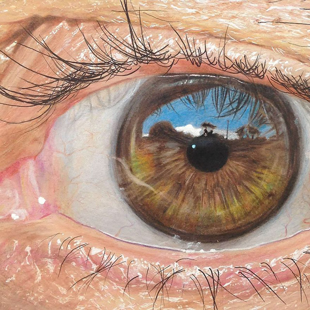 occhi pastelli realistici