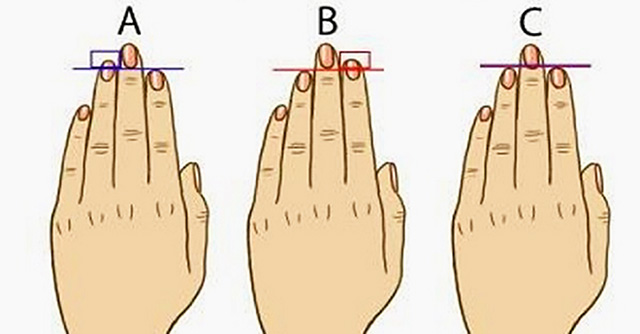 lunghezza dita mano test personalità
