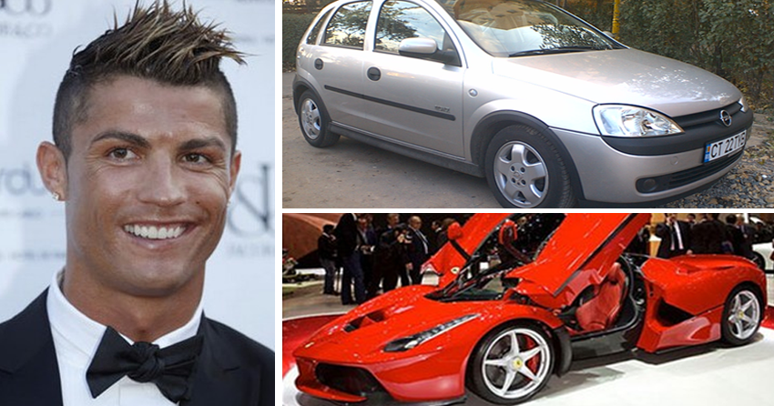 macchine calciatori famosi